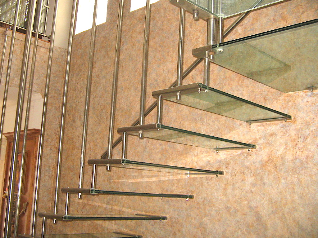 Dr. Justin Thrissur Hanged Glass Stair