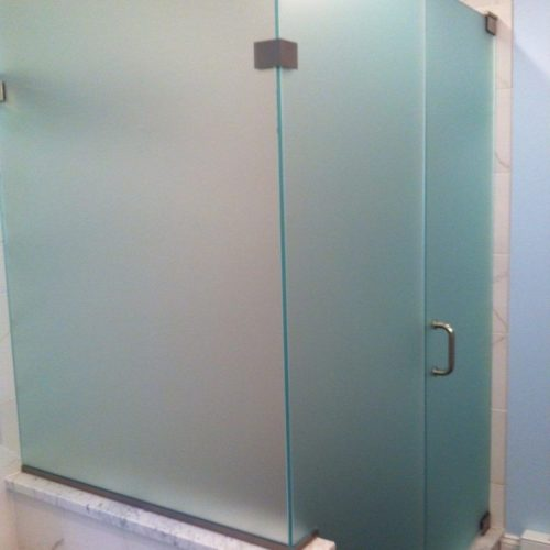 Frosted Shower Partitions